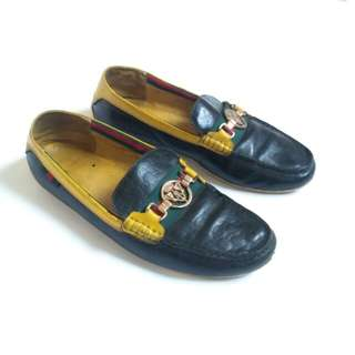 Gucci Vintage Boat Shoes, Size 40