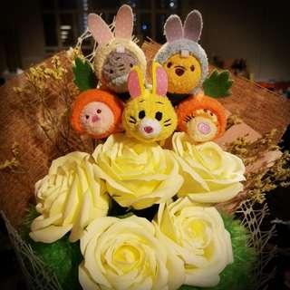 Tsum Tsum 復活節 花束 Winnie the Pooh with Friends