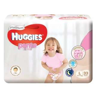 Huggies Platinum Pants for Girls L 33pcs