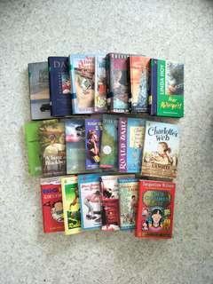 Assorted story books. Charlotte's web Jacqueline Wilson roald Dahl