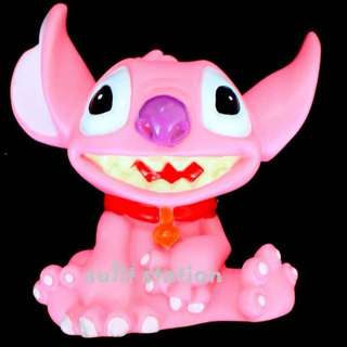 LILO ANGEL PINK STITCH COIN SAVERS BANK TOY FIGURE