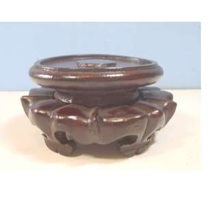 Hand crafted exotic display wood stand new for bonsai vase bowl pot...