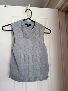 Misguided grey sleeveless knit!