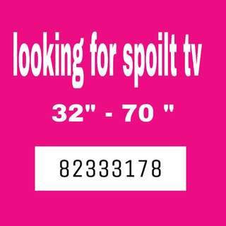 We buy spoilt tv for export . LCD Led smart Plasma Tv