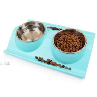 {In Stock} Pet Dining Set P12 (Blue, Green, Pink)