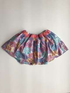 Mothercare floral skirt, size 9-12M