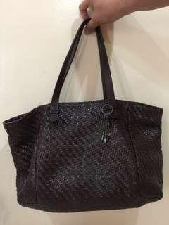 Minelli Leather Shoulder Bag
