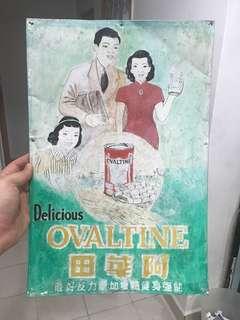 Ovaltine Sign for sale