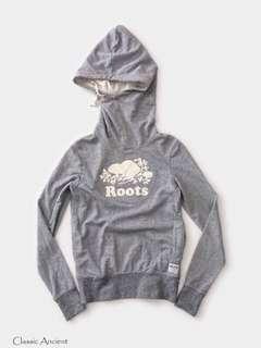 🚚 加拿大Roots灰色雜訊紋高領連帽上衣XS