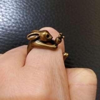 韓國 韓式 戒指 小兔