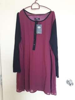 Dark Pink Blouse 3XL