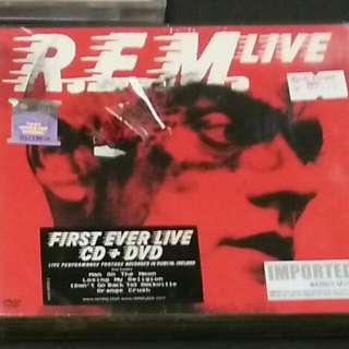 R.E.M CD AND DVD