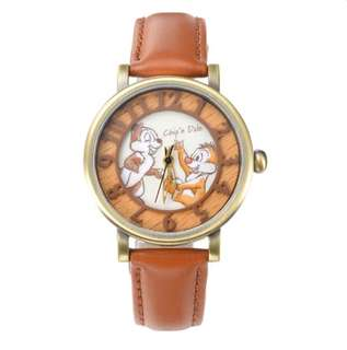🇯🇵日本迪士尼代購 Disney Chip n Dale 大鼻與鋼牙 75 週年限定版 木紋 錶