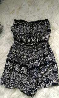 strapless playsuit x