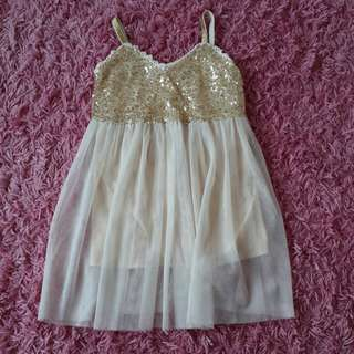 Brand New Gold Ballerina Sequin Dress