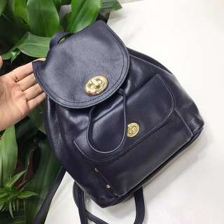 On sales!! Coach Backpack - navy blue