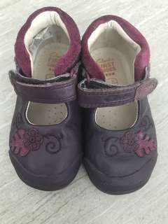 Clark Purple Leather Shoes