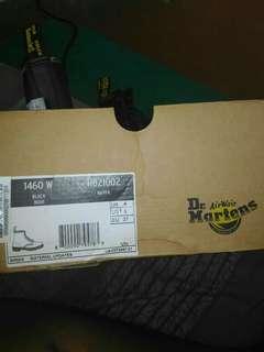 Dr martens orig 1460 w 8 eye holes black noir boots genuine leather