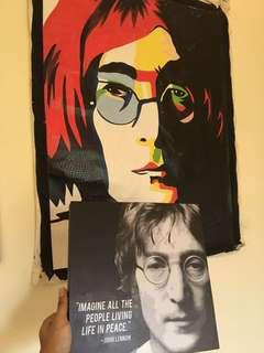 Pop art + lukisan john lennon