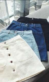 Korean Denim Skirt