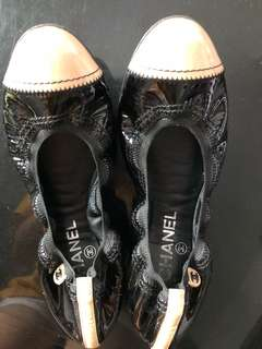 Authentic Chanel Ballet shoes 8.5