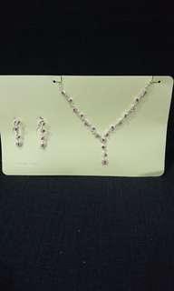 🚚 粉紫鑽石項鍊組