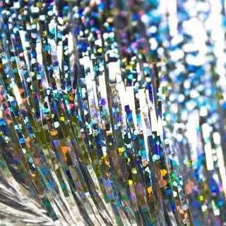 Glitter Silver Party Curtain