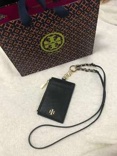 Tory Burch Badge ID Holder / Card Holder / Emerson Lanyard 99% New!!!
