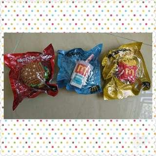 麥當勞玩具 3件 nanoblock