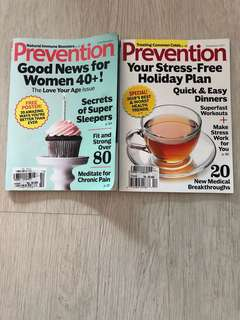 Prevention magazines set of 2