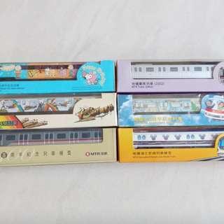 列車模型 地鐵 港鐵 迪士尼 共6盒