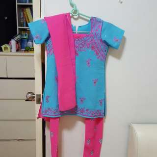 Pink & Blue Indian Costume