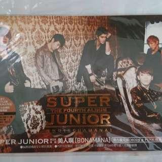 🚚 SUPER JUNIOR 4th album 第四張專輯 「BONAMANA美人啊」*含小卡!