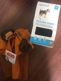 Beagle (medium dogs) washable diaper and costume