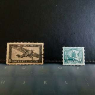 French Indochina old stamps