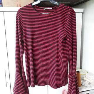 Zara red-striped top ❤negotiable❤