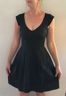 Black skater style party dress