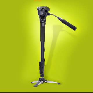 DSLR Camera Photo/Video Monopod Fluid Damping Pan/Tilt Head Swivel Tripod Stand Adapter