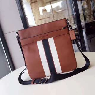 Coach Charles Crossbody in Varsity leather - brown