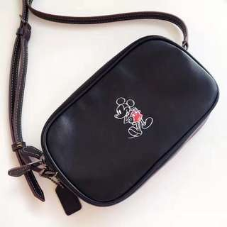 Coach crossbody pouch with mickey Disney - black