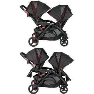 98% New Kolcraft contours options elite tandem stroller