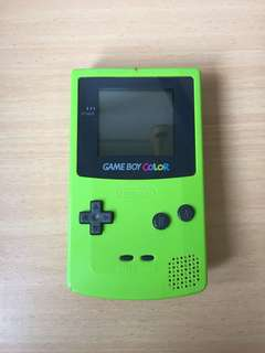 Lime Green Gameboy Color