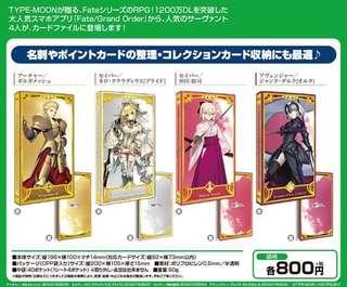 Fate/Grand Order Card File カードファイル 4種 【SIZE】縦196×横100×マチ14mm(対応CARD SIZE:縦92×横73mm以内)