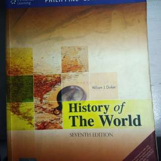 History of the World Philippine Edition (Seventh edition) by Eilkiam J. Duiker