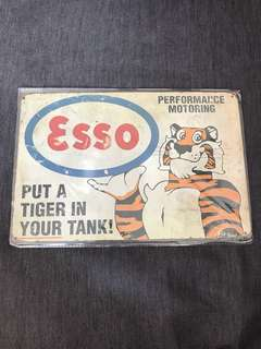 BN Esso Tiger tin plate signage 20x30cm sign signboard