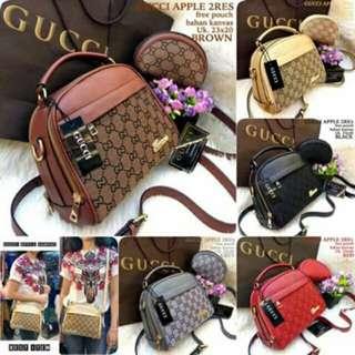 Gucci apple set pouch