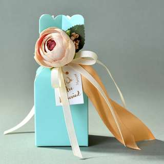 NEW Tiffany Blue Party Candy Box with Bedding