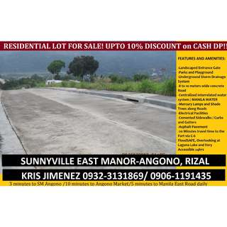 Sunnyville east manor AFFORDABLE overlooking LOT nwar SM angono free tripping!!