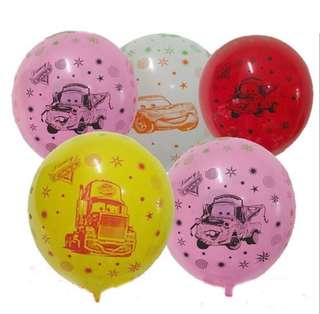 🚗 Disney Cars party supplies - Cars balloons / latex balloons / party deco