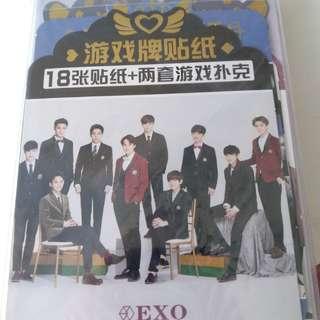 EXO 卡牌,貼紙